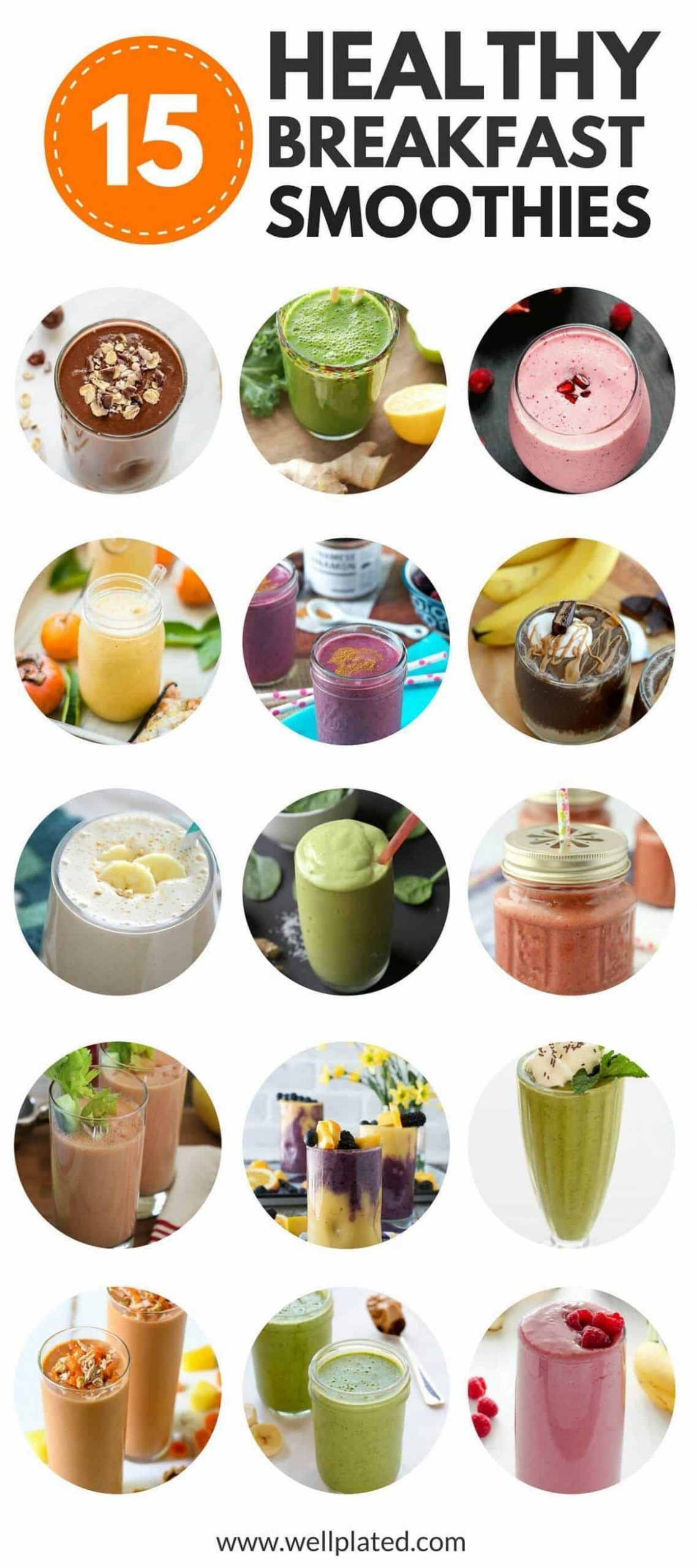 Healthy Breakfast Smoothies {12+ of the Best Recipes ..