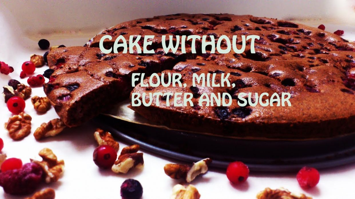 HEALTHY CAKE without flour,butter, milk and sugar - Dessert Recipes No Milk