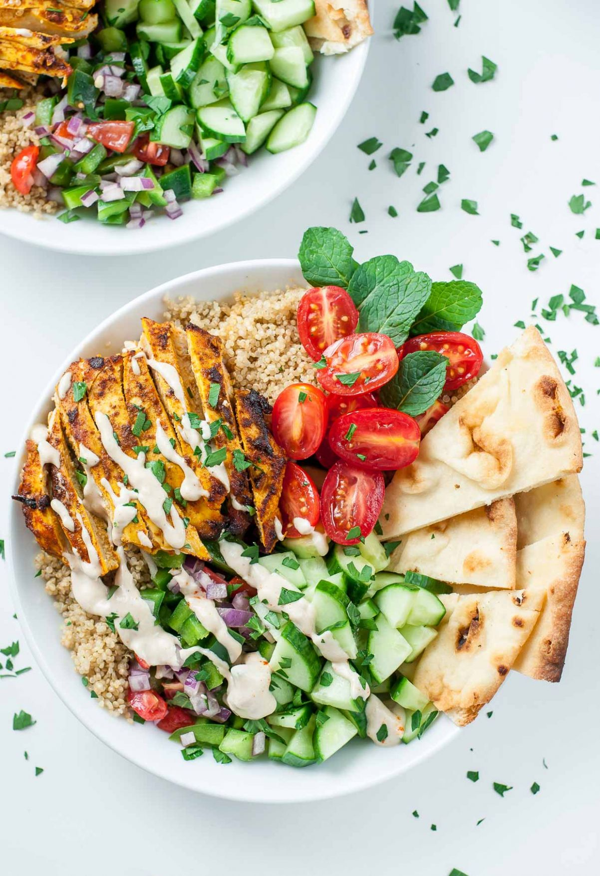 Healthy Chicken Shawarma Quinoa Bowls - Dinner Recipes Quinoa