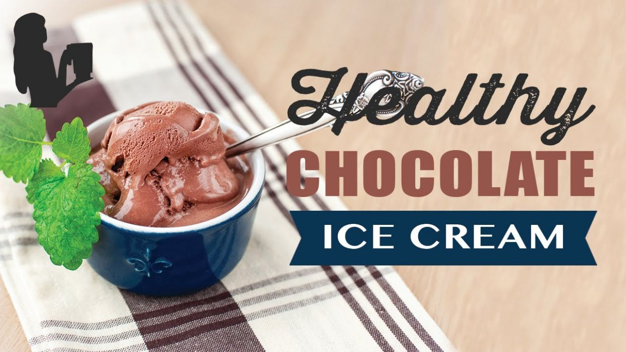 Healthy Chocolate Ice Cream Recipe made using a Vitamix or Blendtec  commercial blender
