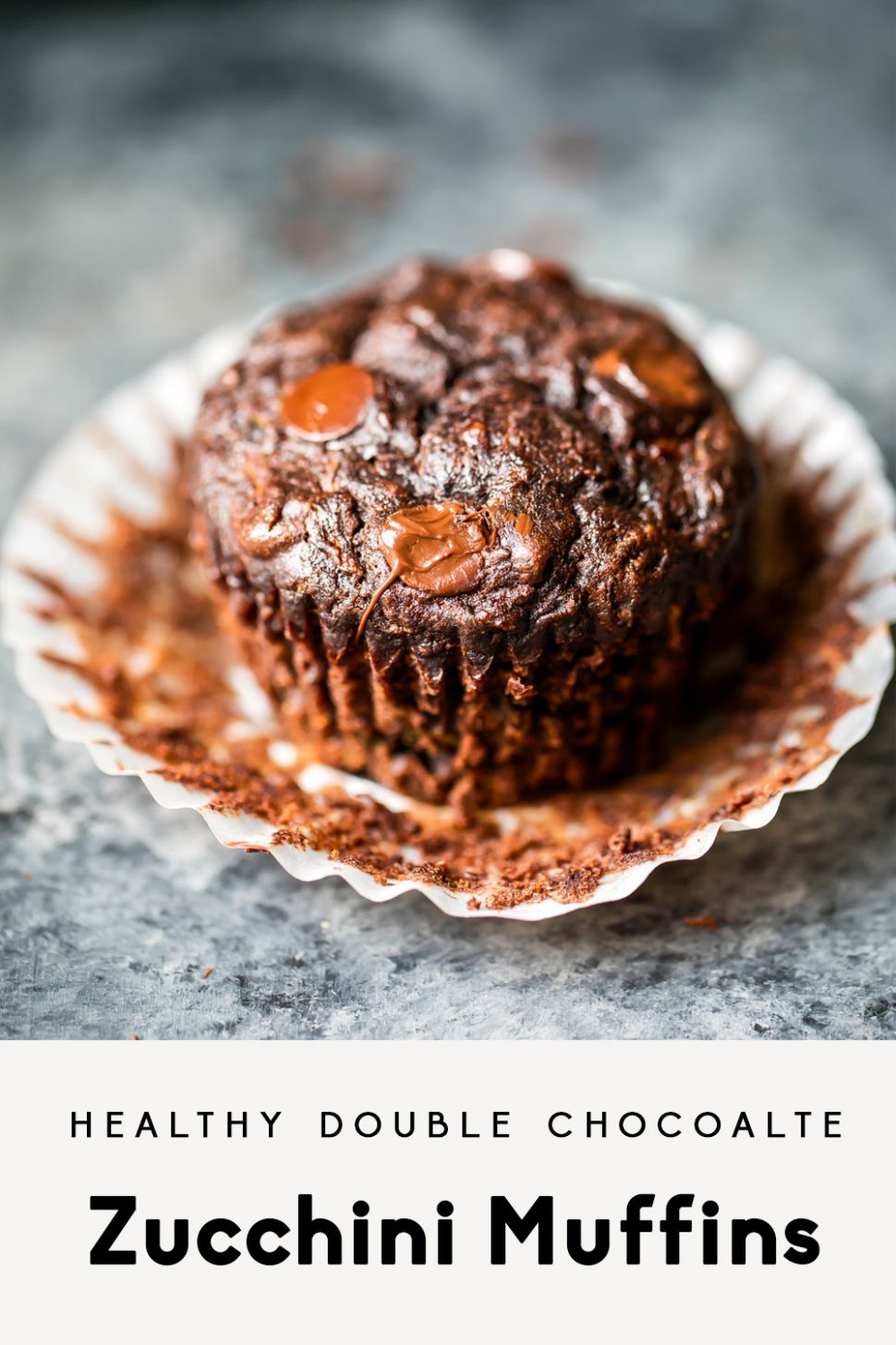 Healthy Double Chocolate Zucchini Muffins | Ambitious Kitchen - Recipes Chocolate Zucchini Muffins