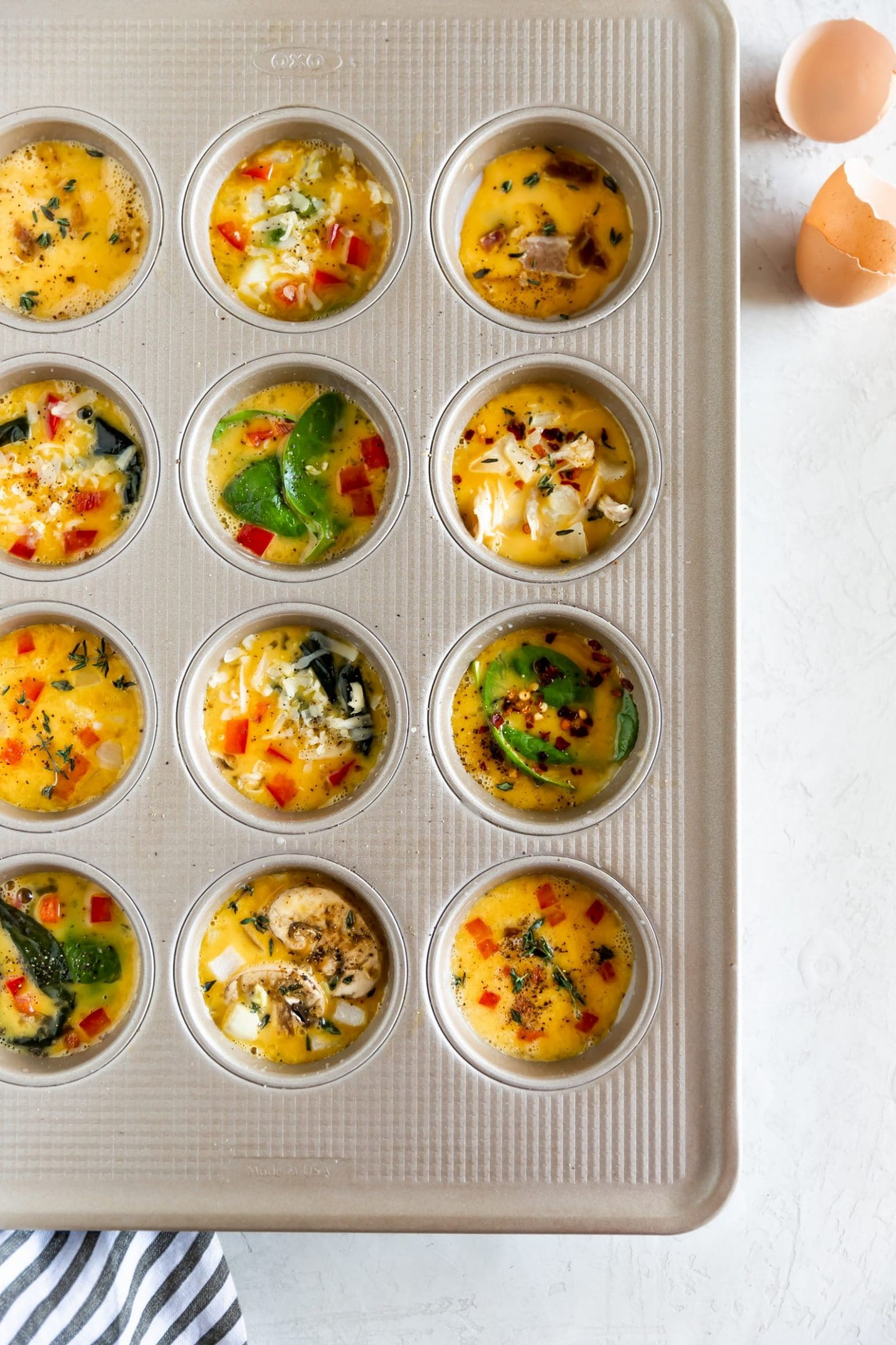 Healthy Egg Muffin Cups (Meal Prep Idea!) - A Sassy Spoon - Recipe Egg Muffin Pan