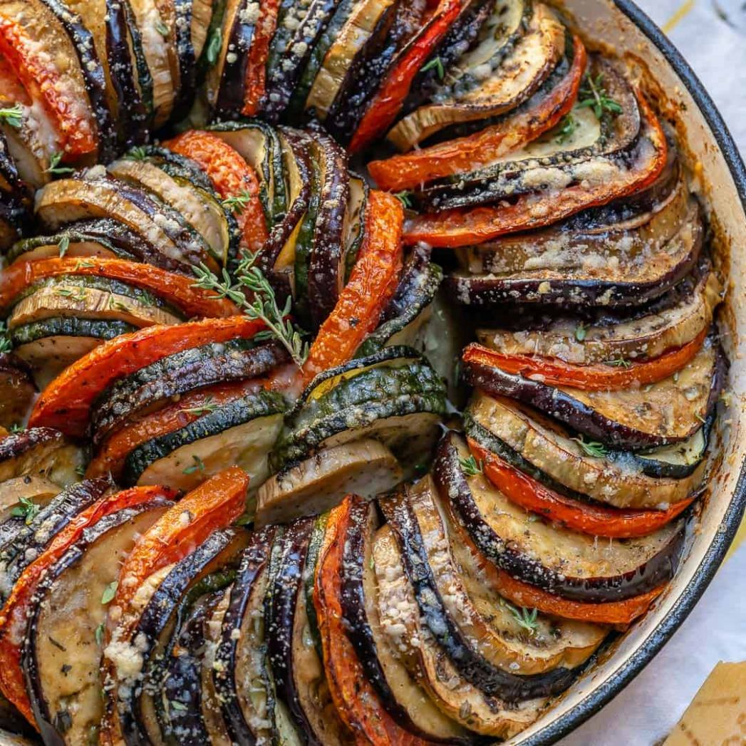 Healthy Eggplant and Zucchini Gratin - Healthy Recipes Eggplant