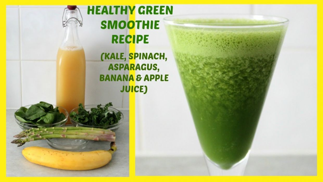 Healthy Green Smoothie Recipe for Weight Loss, Glowing Skin and Shiny Hair  | Yummieliciouz Food - Smoothie Recipes For Weight Loss With Spinach