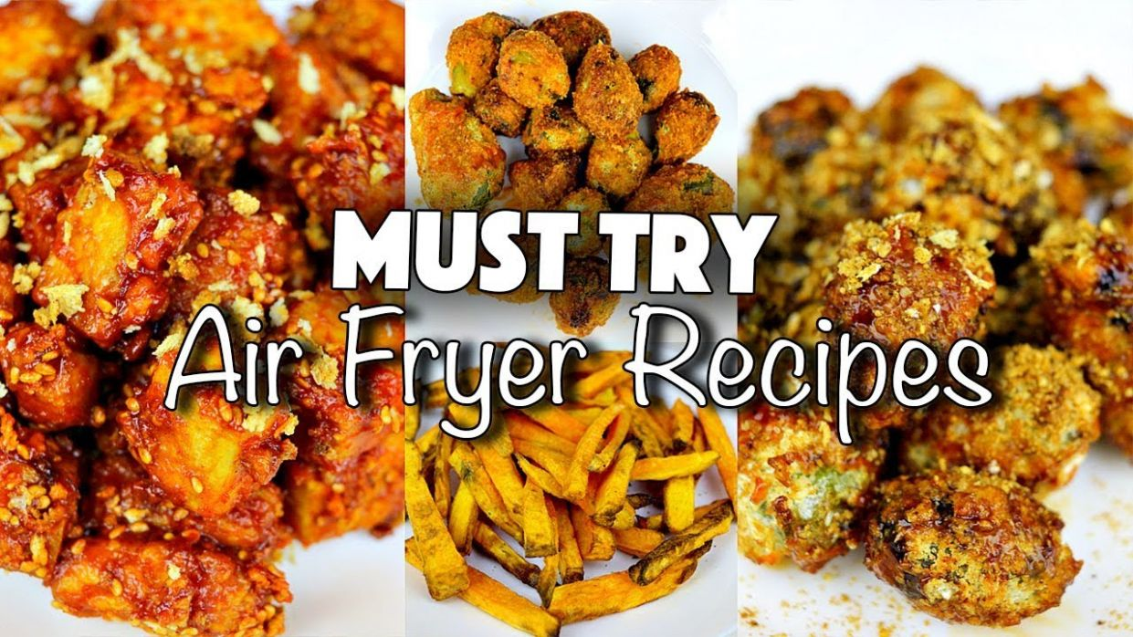 HEALTHY JUNK FOOD // MUST TRY AIR-FRYER RECIPES (VEGAN) - Healthy Recipes Air Fryer