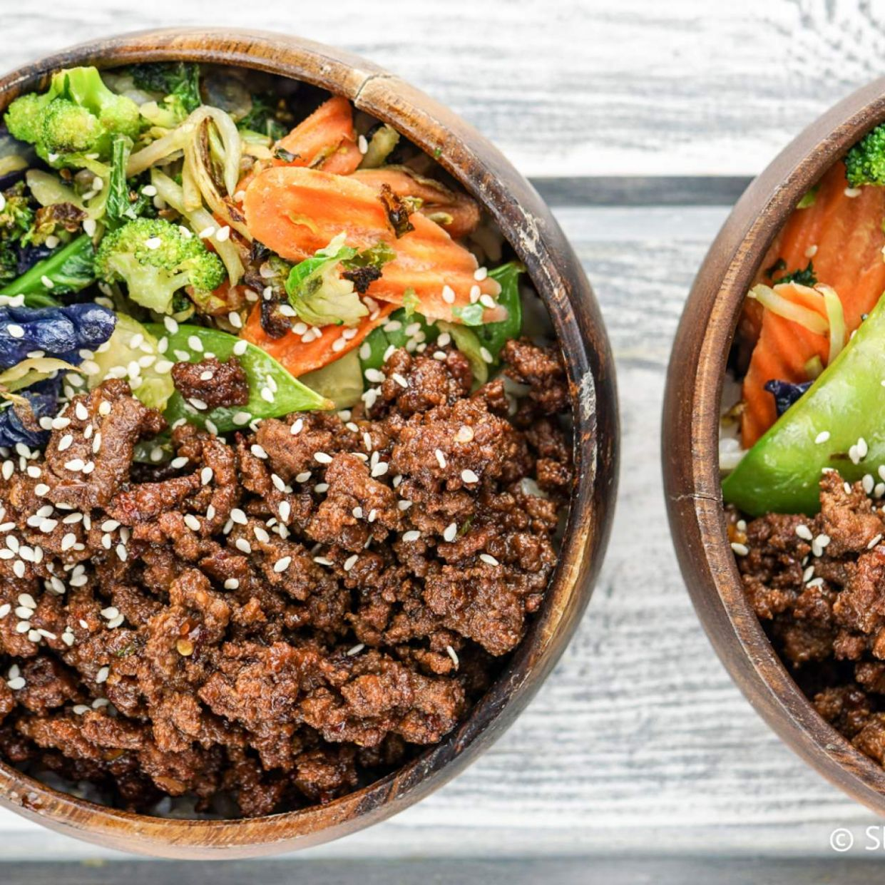 Healthy Korean Ground Beef with Vegetables - Healthy Recipes Using Ground Beef