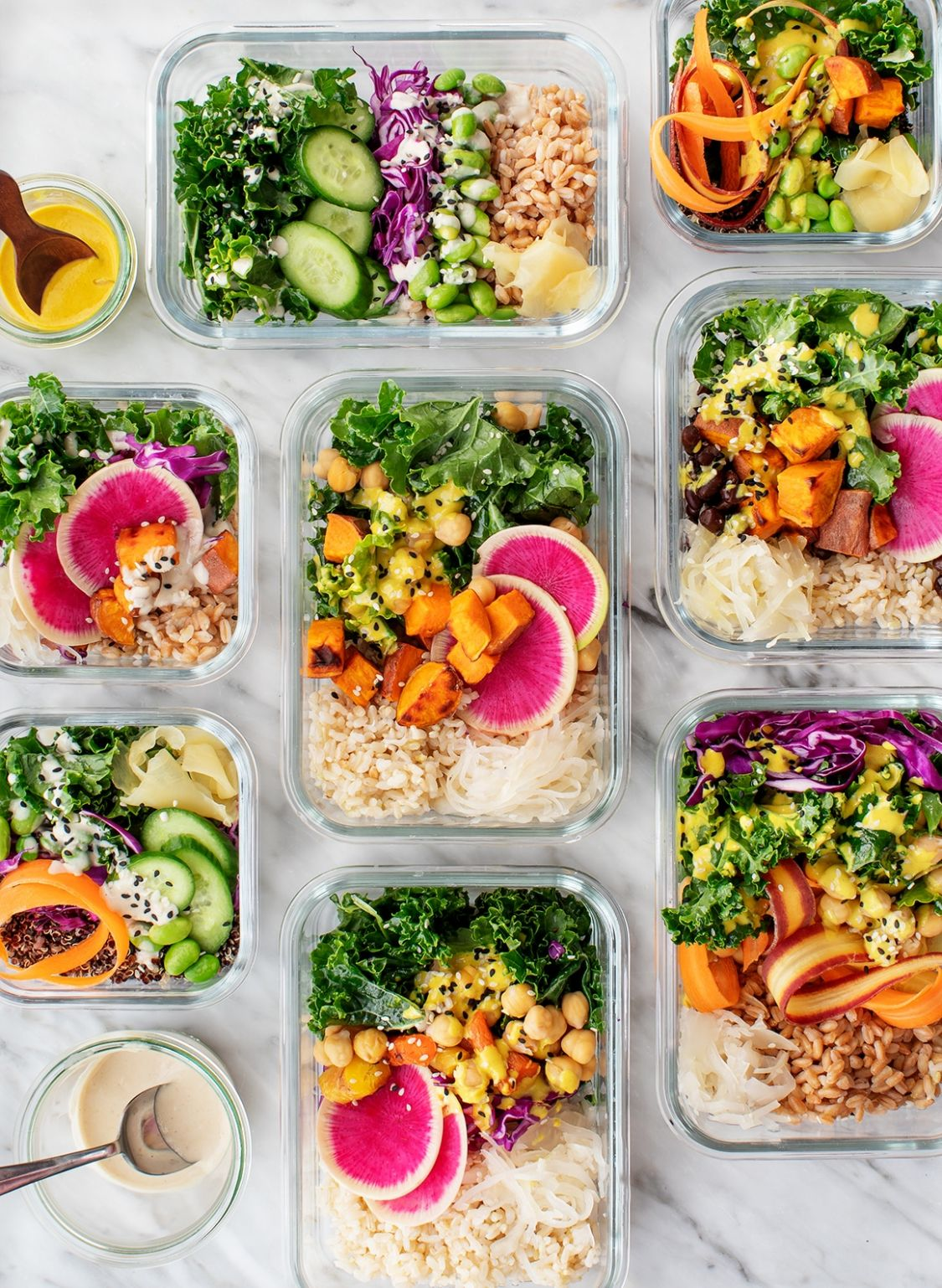 Healthy Lunch Ideas: Box Lunch Buddha Bowls - Healthy Recipes Lunch