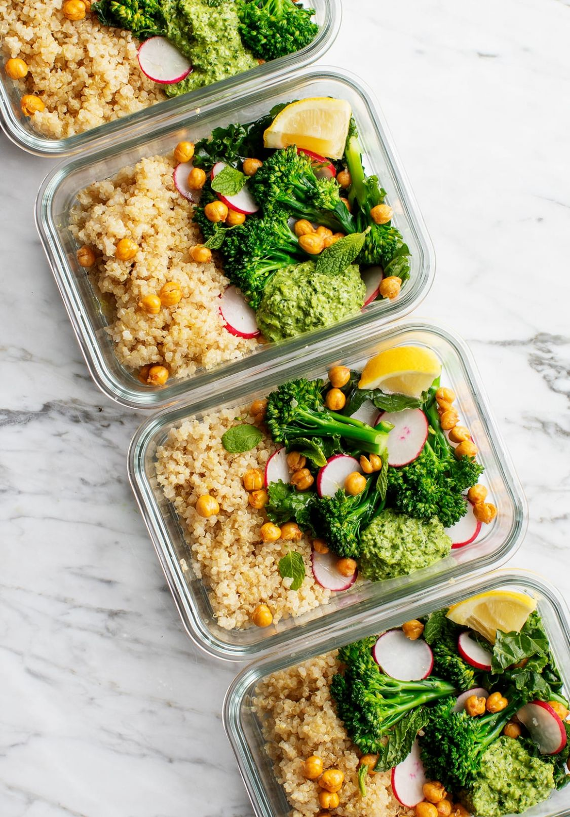 Healthy Meal Prep Ideas - Broccoli Quinoa Bowls