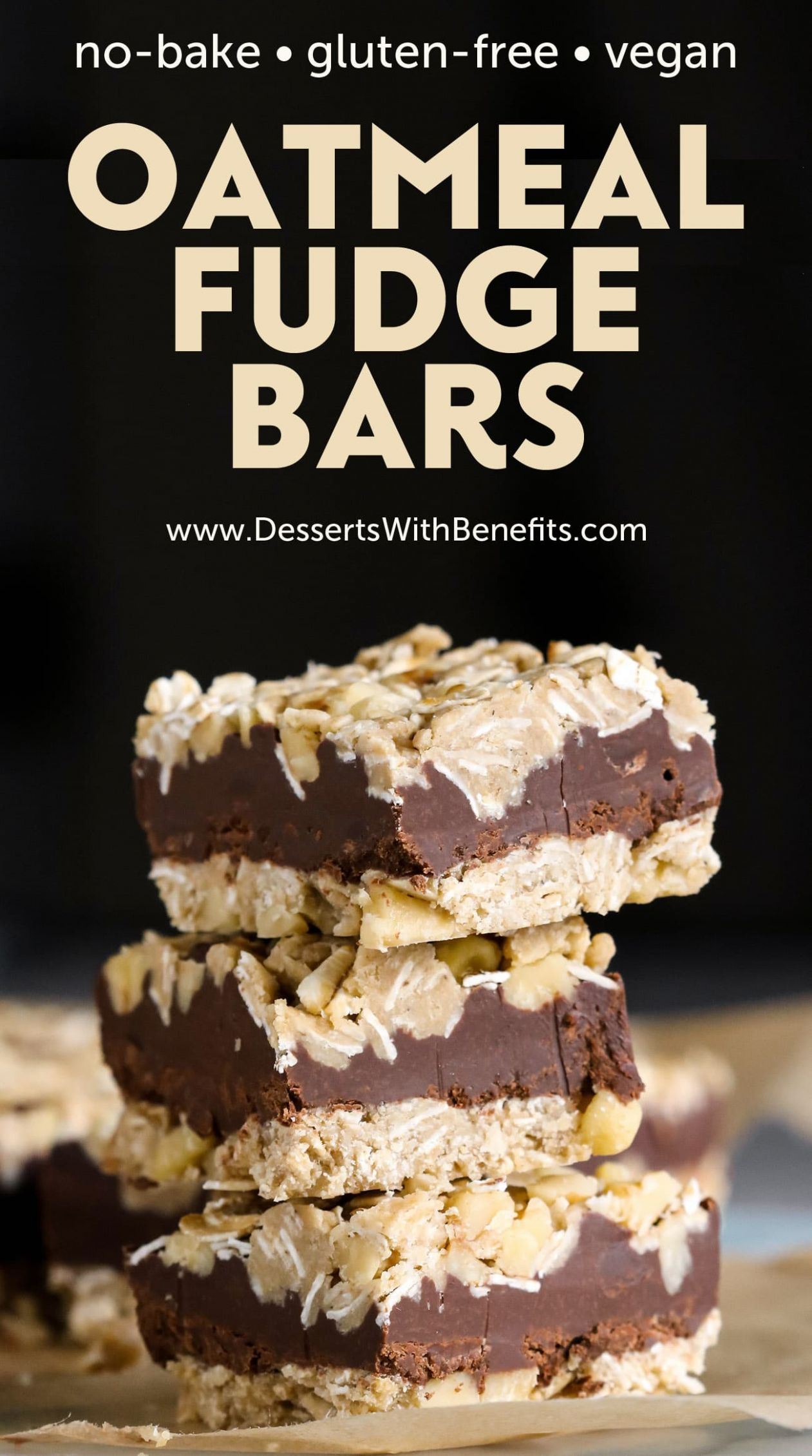 Healthy No-Bake Oatmeal Fudge Bars - Healthy Recipes No Oven