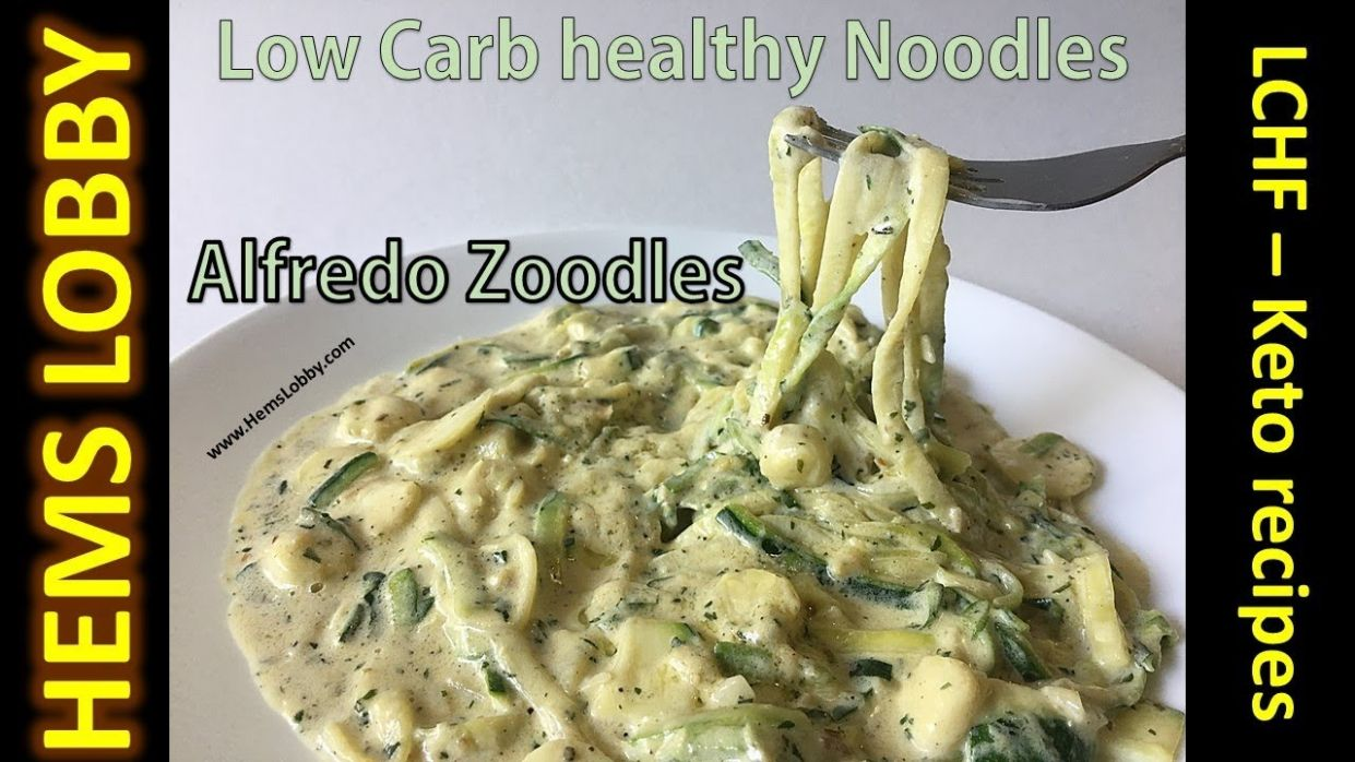 Healthy noodles for weight loss | Zucchini alfredo noodles recipe in Tamil  (eng title)| Keto recipes