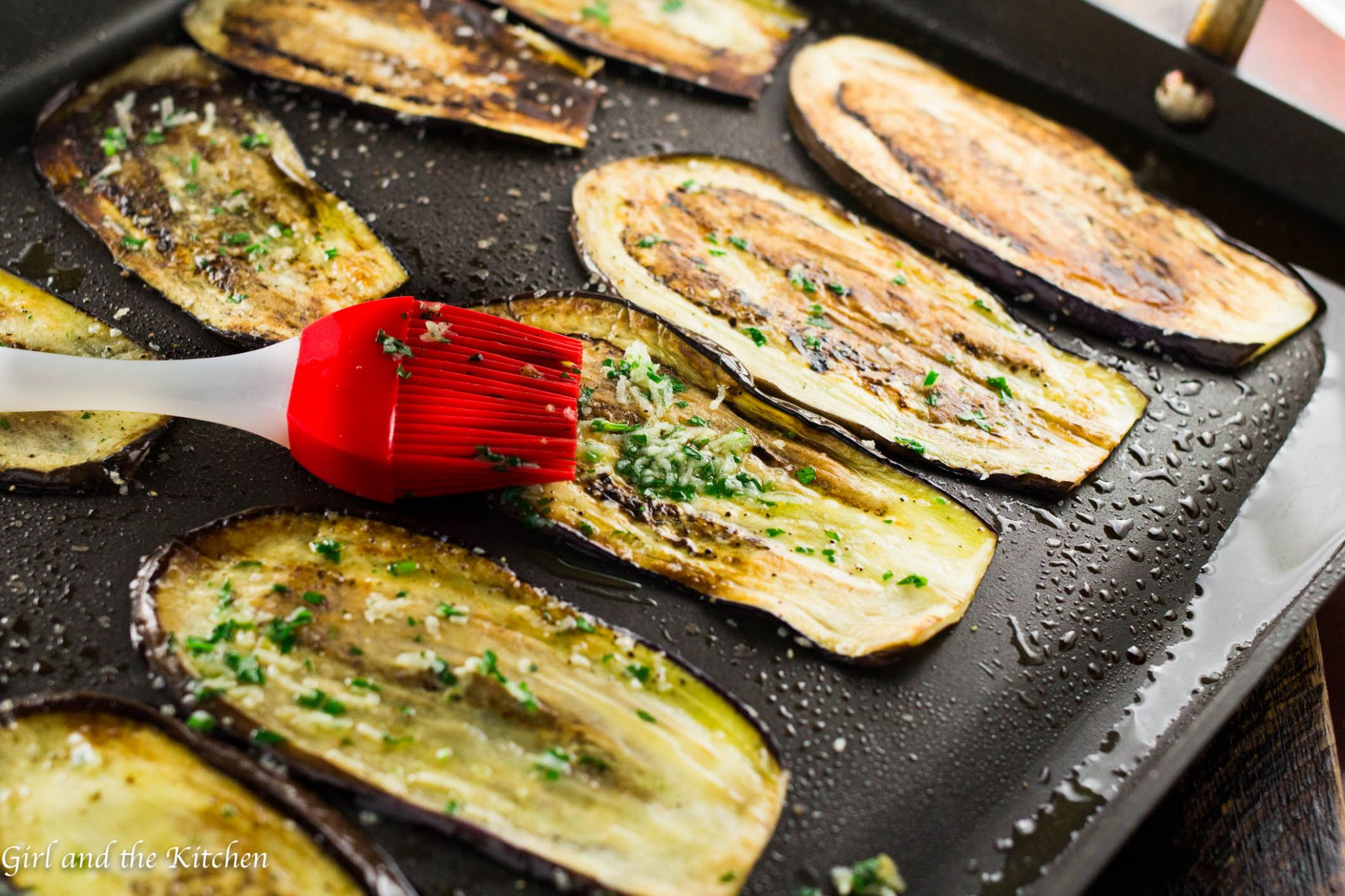 Healthy Pan Fried Baby Eggplant with Gremolata - Girl and the Kitchen - Healthy Recipes Eggplant