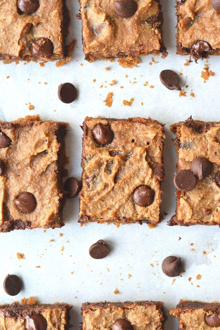 Healthy Peanut Butter Chocolate Blondes - Healthy Recipes Dessert