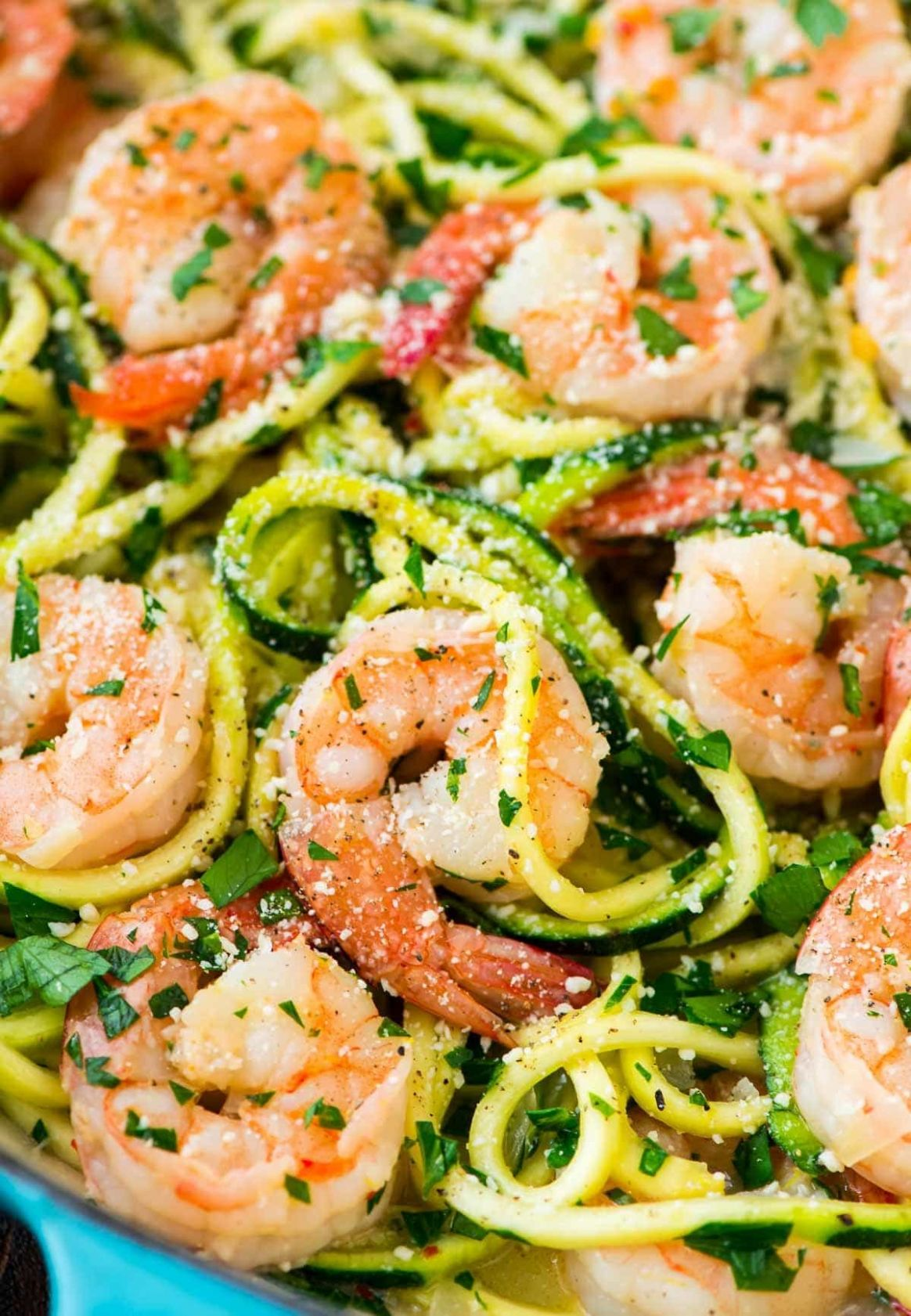 Healthy Shrimp Scampi with Zucchini Noodles - Healthy Dinner Recipes Zucchini