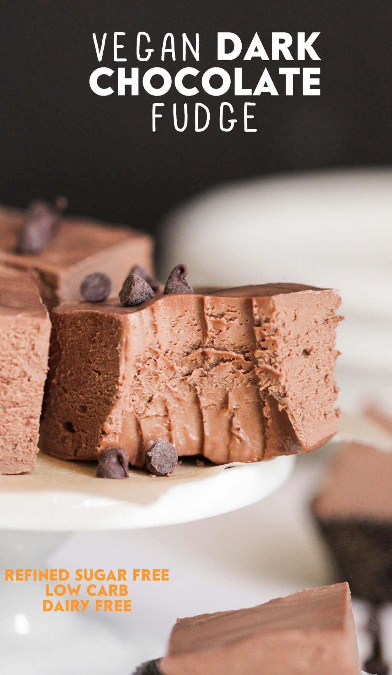 Healthy Vegan Dark Chocolate Fudge