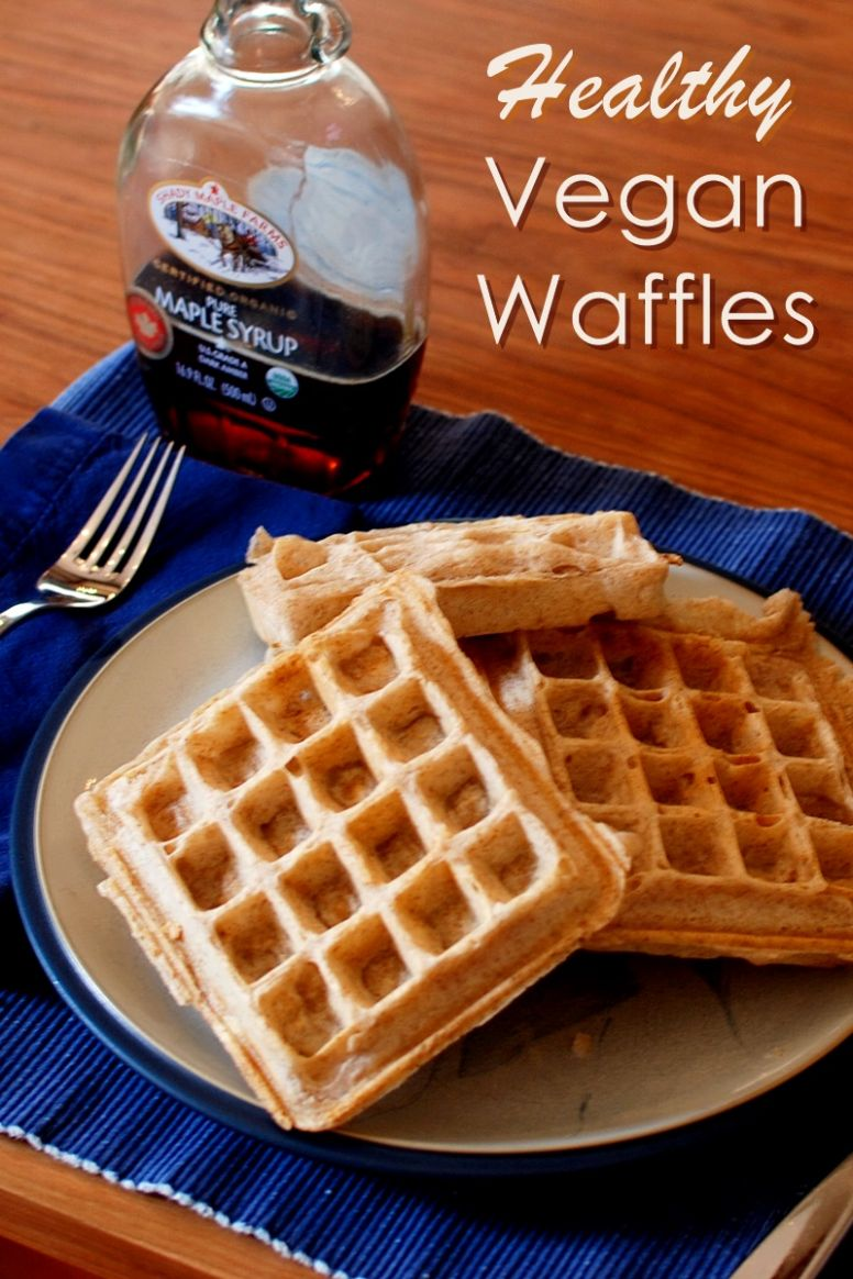 Healthy Vegan Morning Waffles - Recipe Vegetarian Waffle