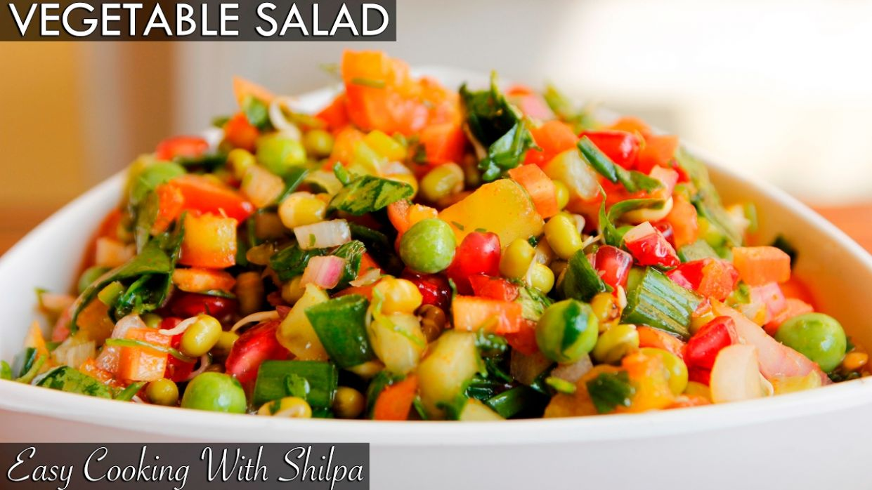 Healthy Vegetable Salad Recipe | Quick and Easy Vegetable Salad |  EasyCookingWithShilpa - Salad Recipes Vegetarian Easy