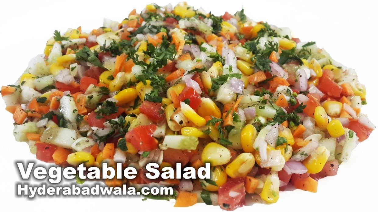 Healthy Vegetable Salad Recipe Video - How to Make Healthy Vegetable Salad  at Home - Easy & Simple - Salad Recipes Video