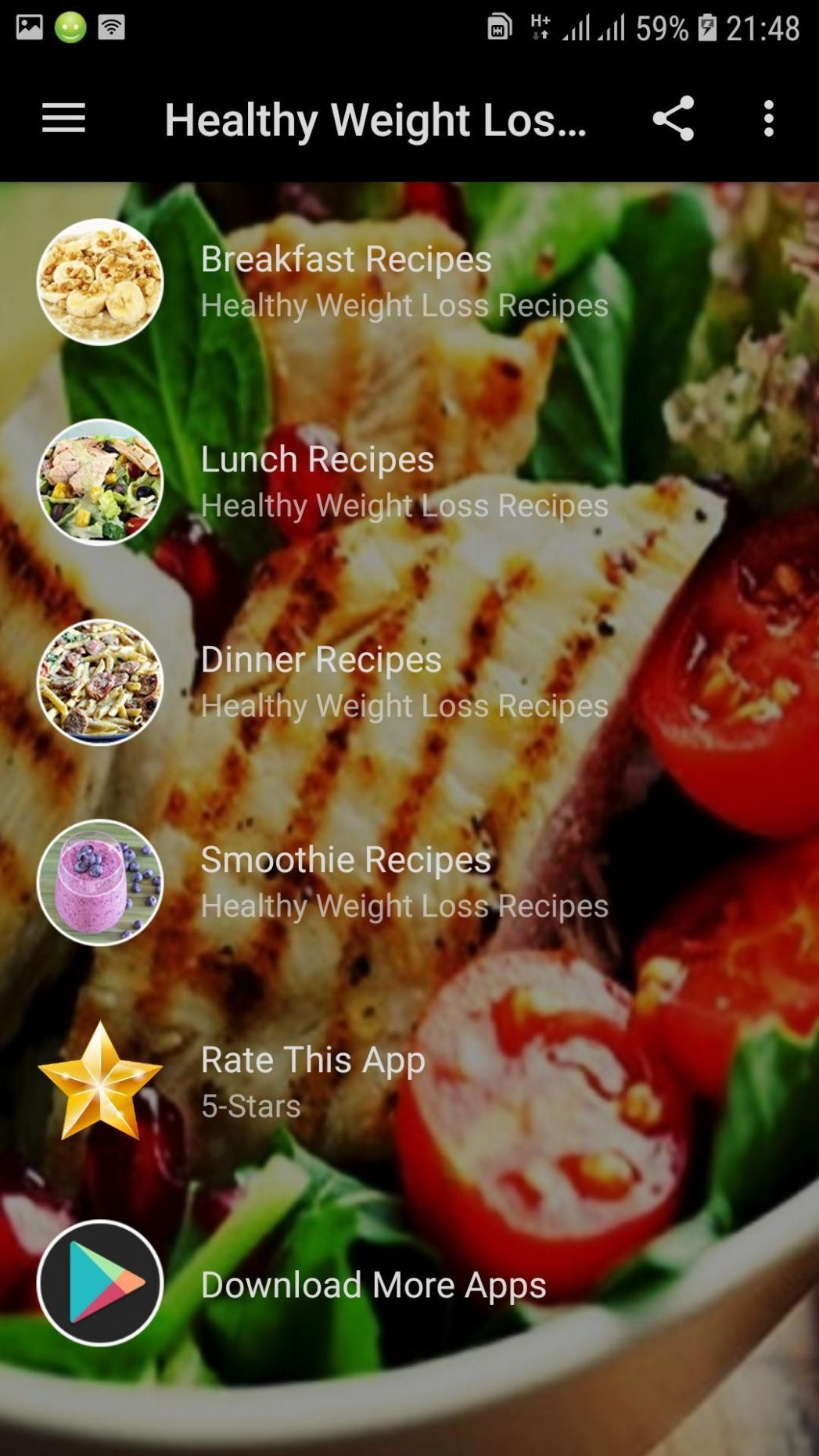 Healthy Weight Loss Food Recipes for Android - APK Download