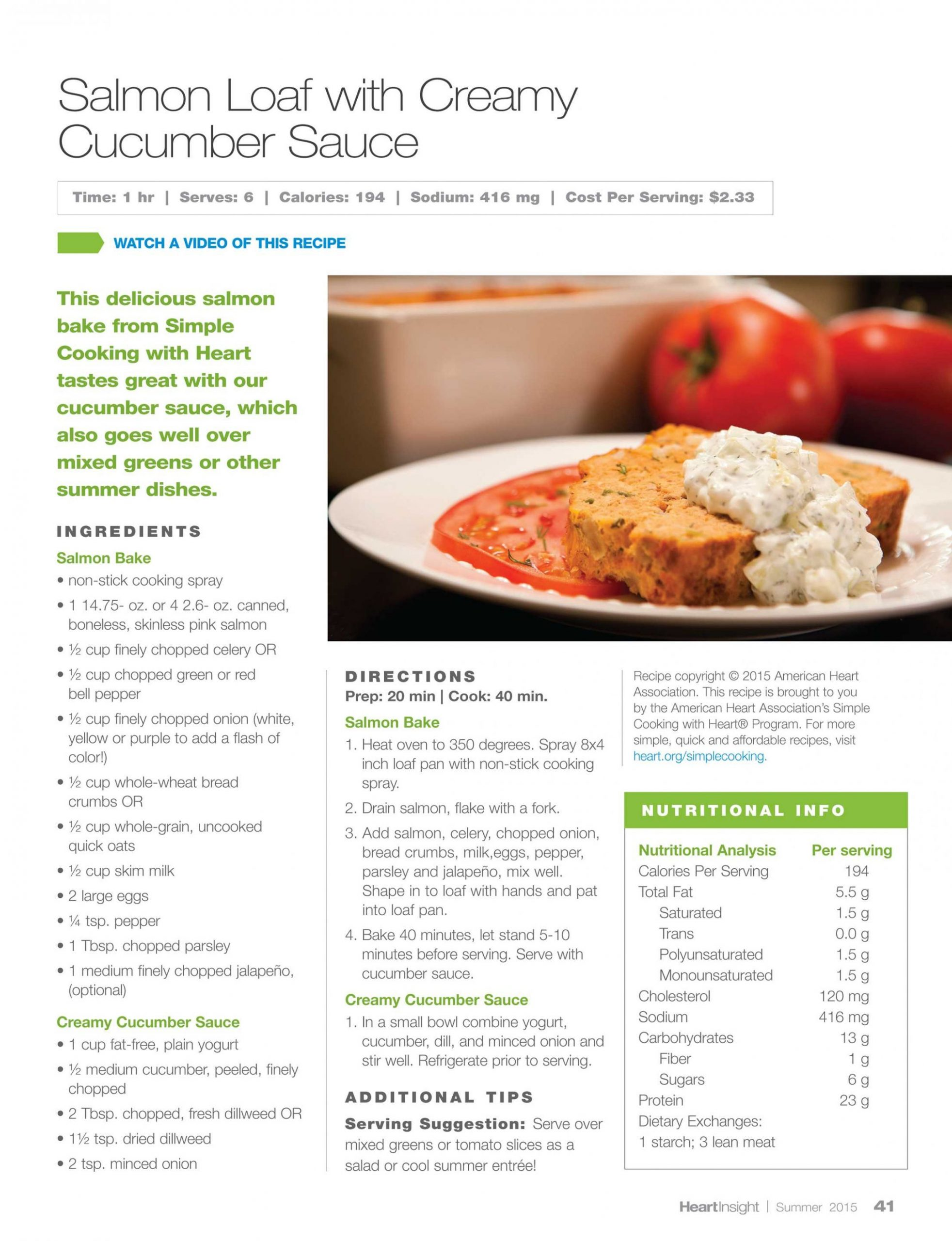 Heart Insight - Summer 10 - page 10 - Simple Recipes Analysis