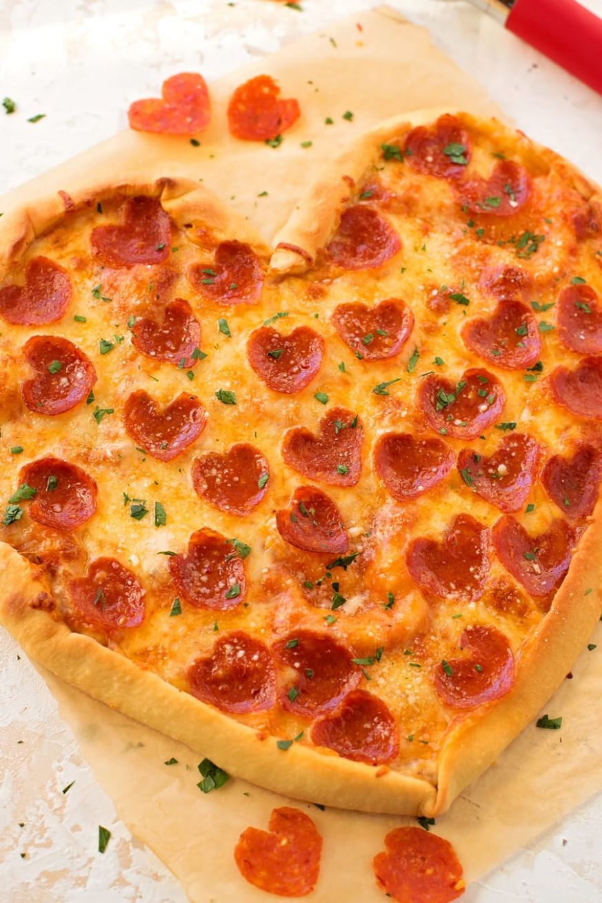 Heart Shaped Pepperoni Pizza Recipe - Pizza Recipes Simple