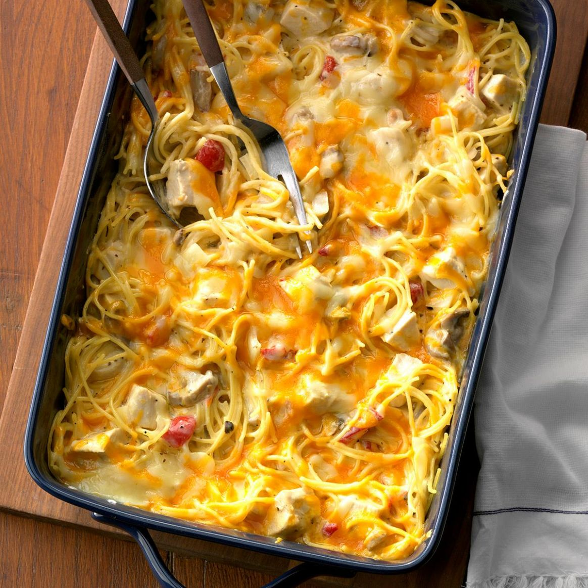 Hearty Chicken Spaghetti Casserole