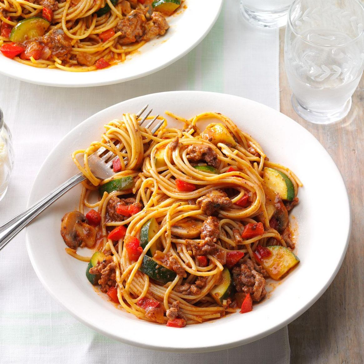 Hearty Garden Spaghetti - Recipes Of Pasta Dishes