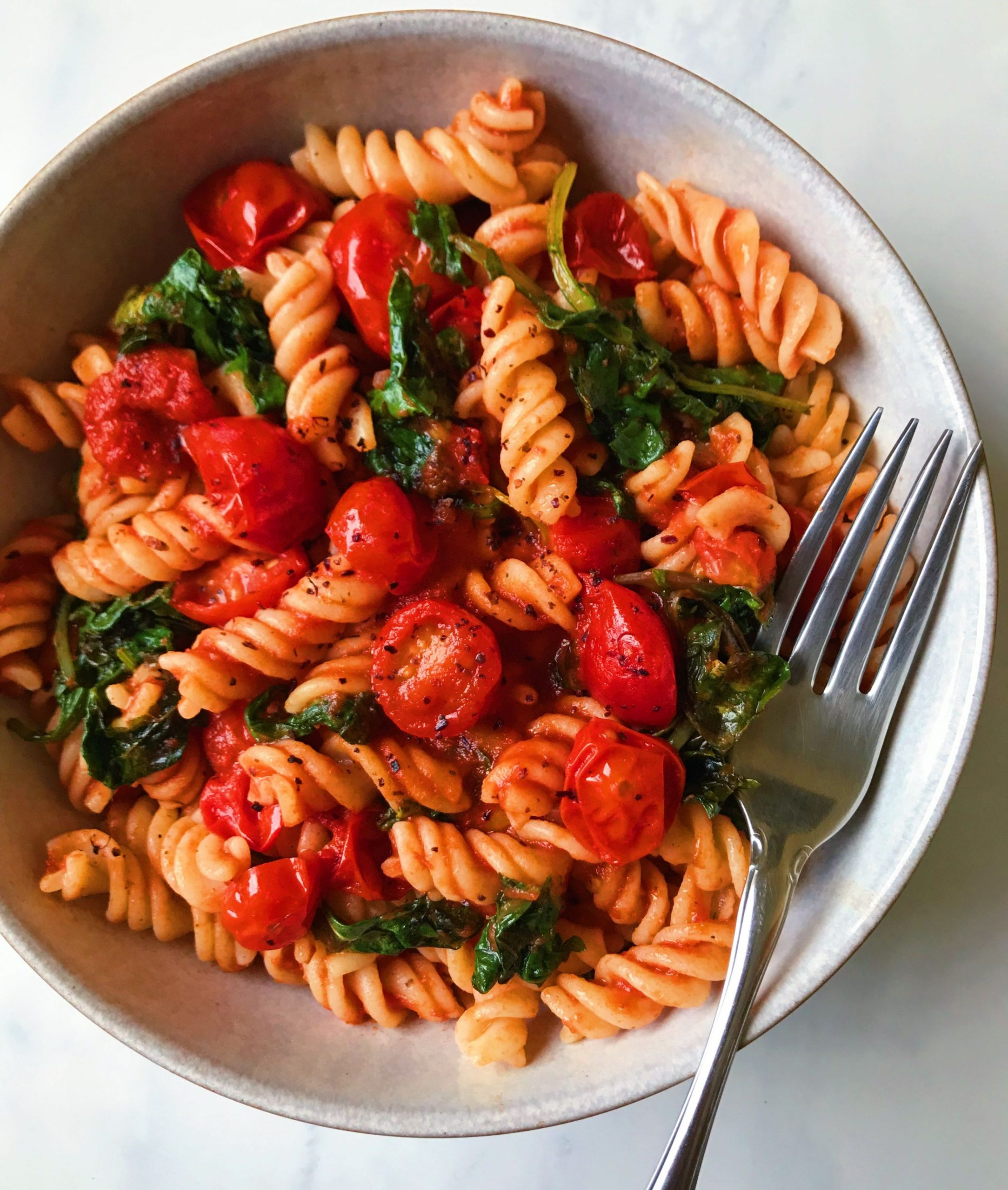 Hearty Kale and Marinara Pasta
