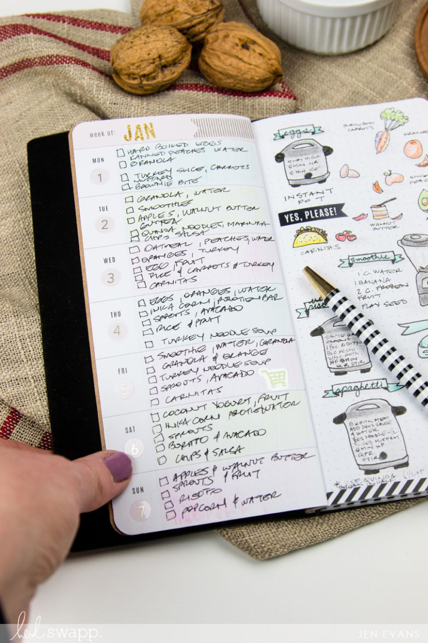 Heidi Swapp | Meal Planning Bullet Journal - Food Recipe Journal