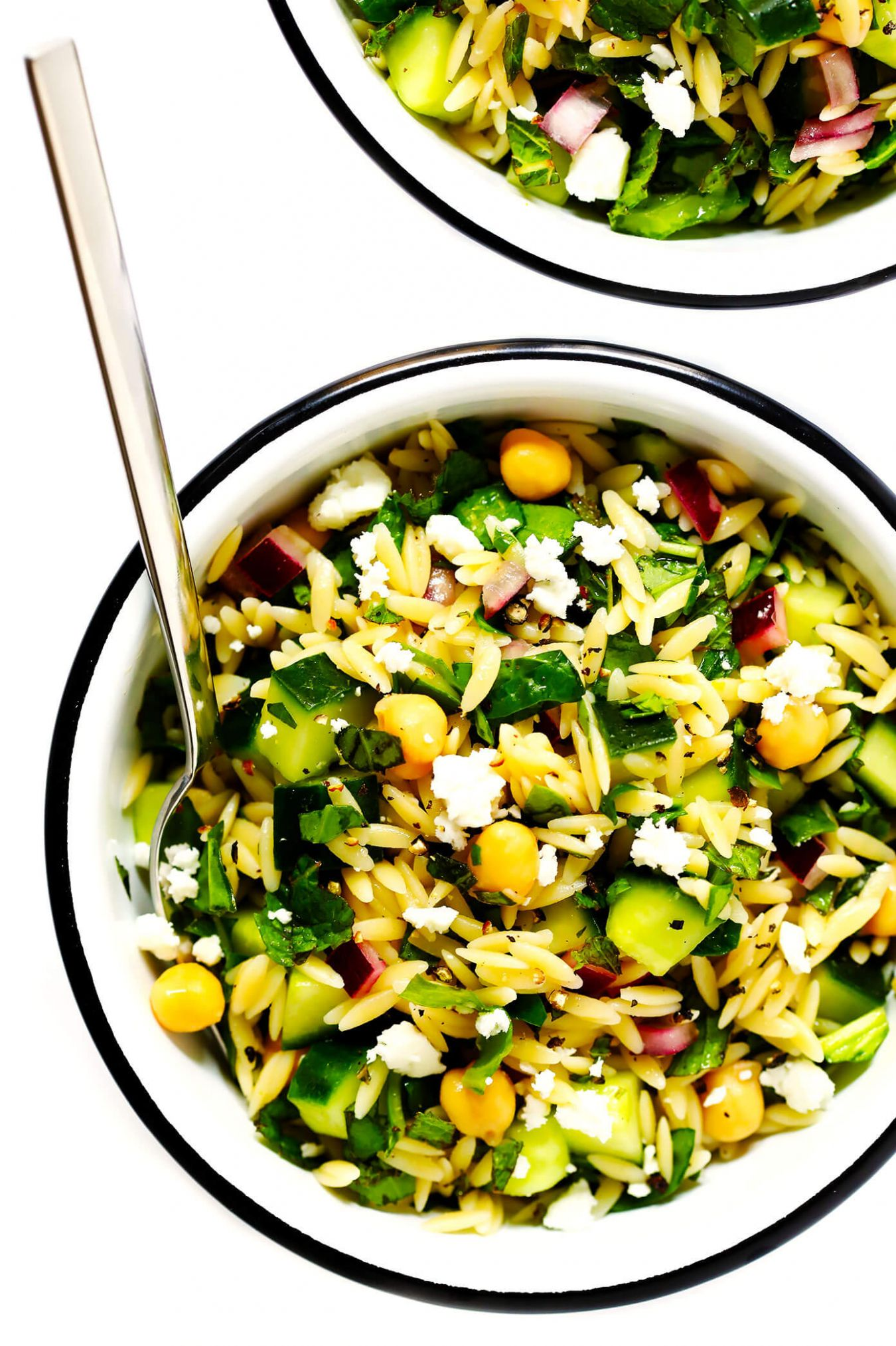 Herb-Lovers Lemony Orzo Salad - Recipes Orzo Salad