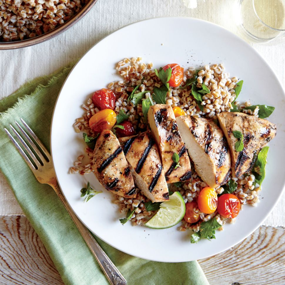 Herbed Wheat Berry & Roasted Tomato Salad & Grilled Chipotle ...