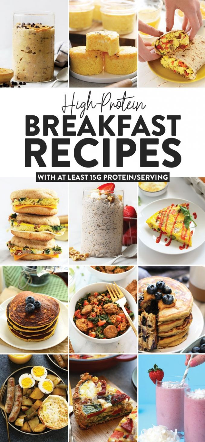 High Protein Breakfast Recipes (w/ at least 10g protein) - Fit ...
