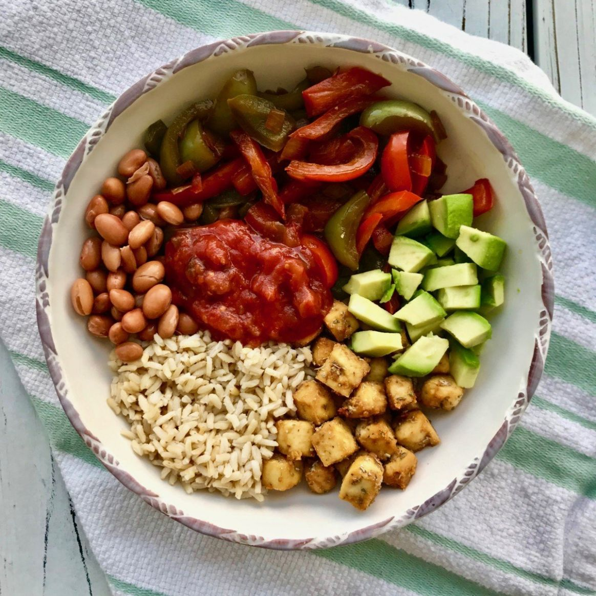 High-Protein Vegan Bowl - Recipes Vegetable Protein