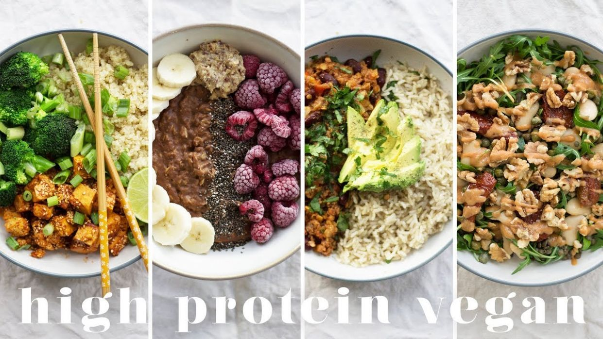 HIGH PROTEIN VEGAN MEALS | 10 Recipes = 10g Protein - Recipes Vegetarian High Protein