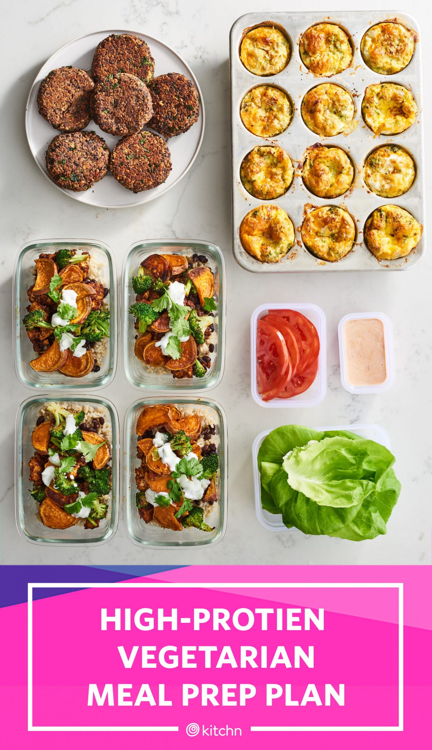 High-Protein Vegetarian Meal Prep for 10 Week of Meals in 10 Hours ..