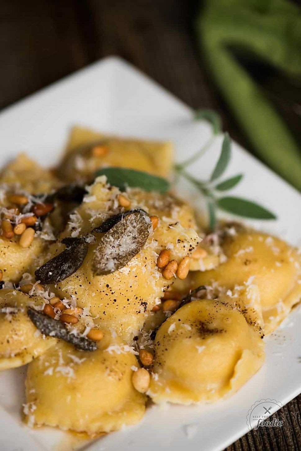 Homemade Butternut Squash Ravioli with Brown Butter Sage Sauce