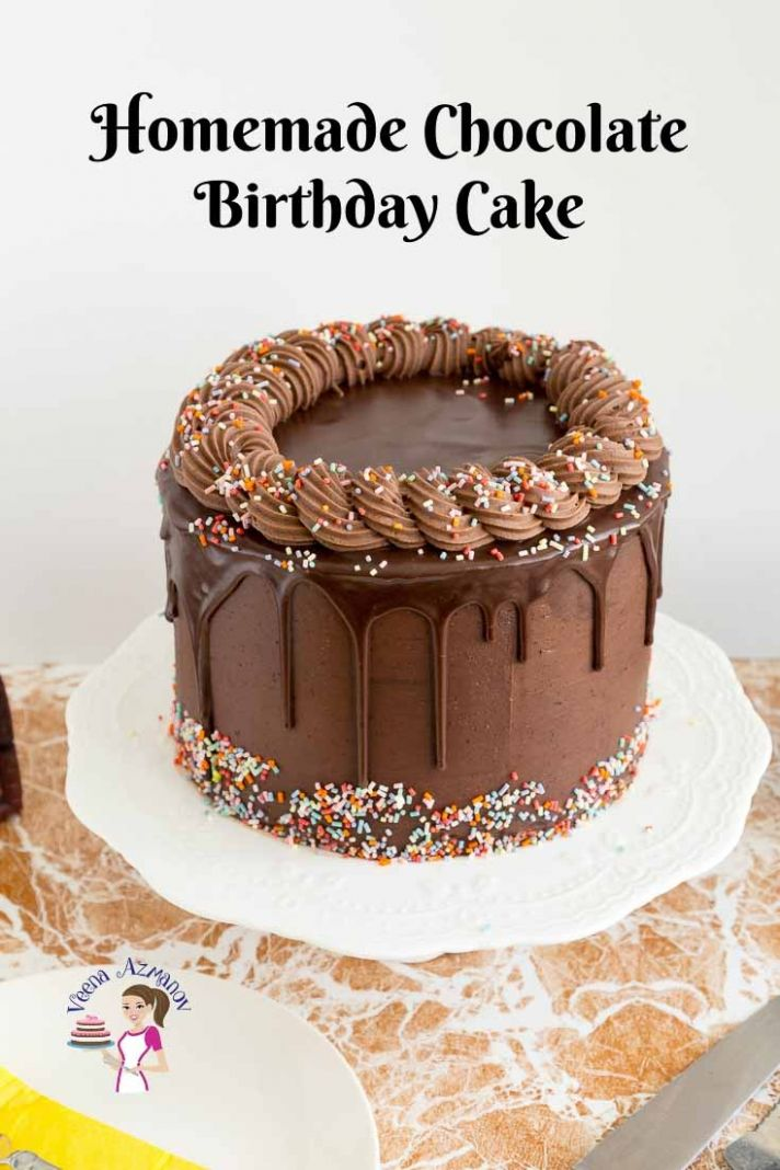 Homemade Chocolate Birthday Cake Recipe - Veena Azmanov