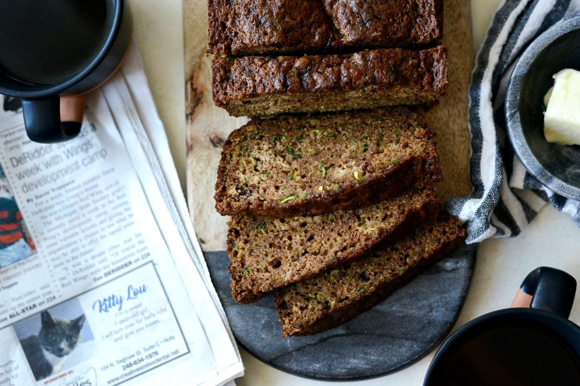 Homemade Olive Oil Zucchini Bread - Simply Scratch