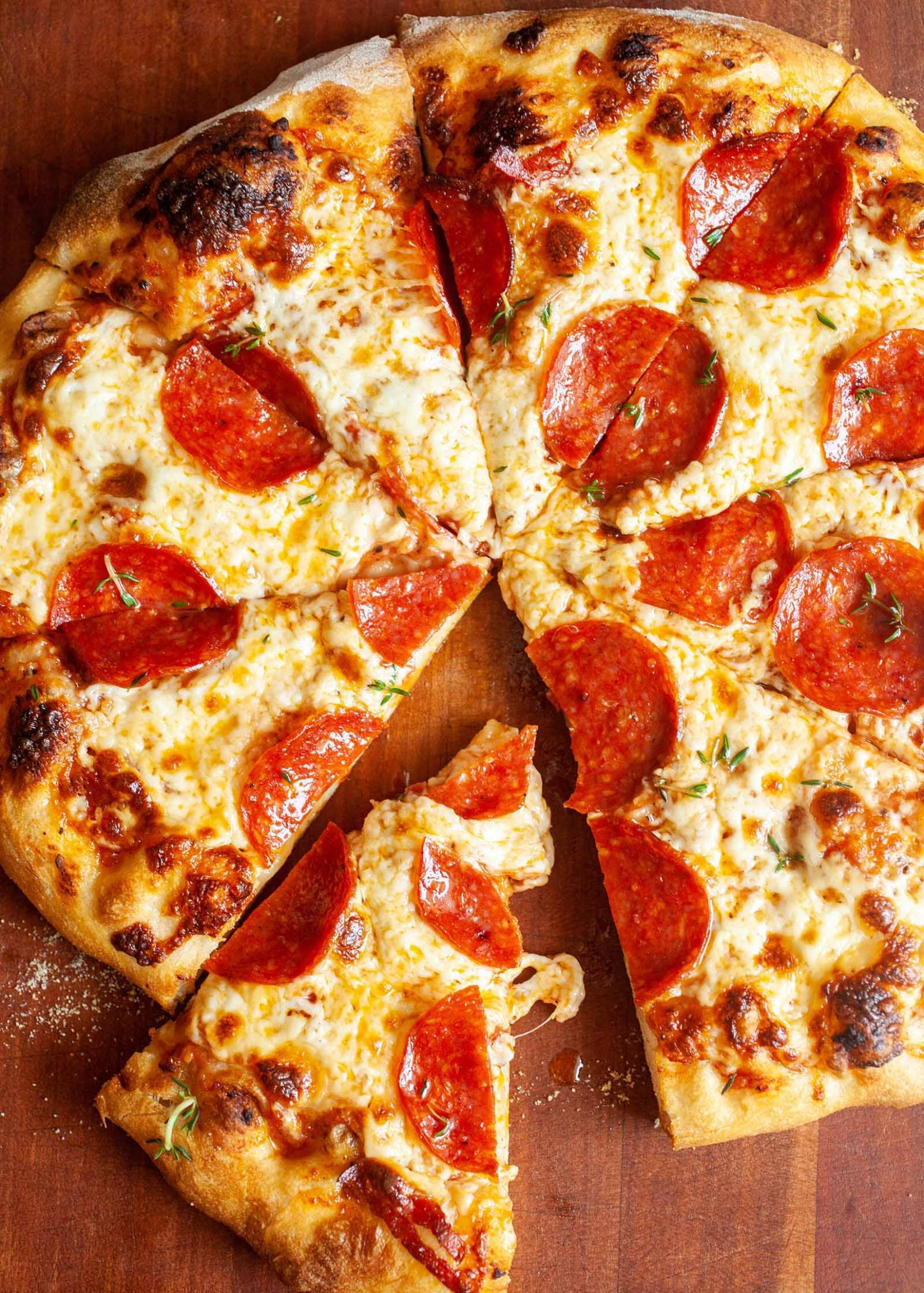 Homemade Pepperoni Pizza - Food Recipes Pizza