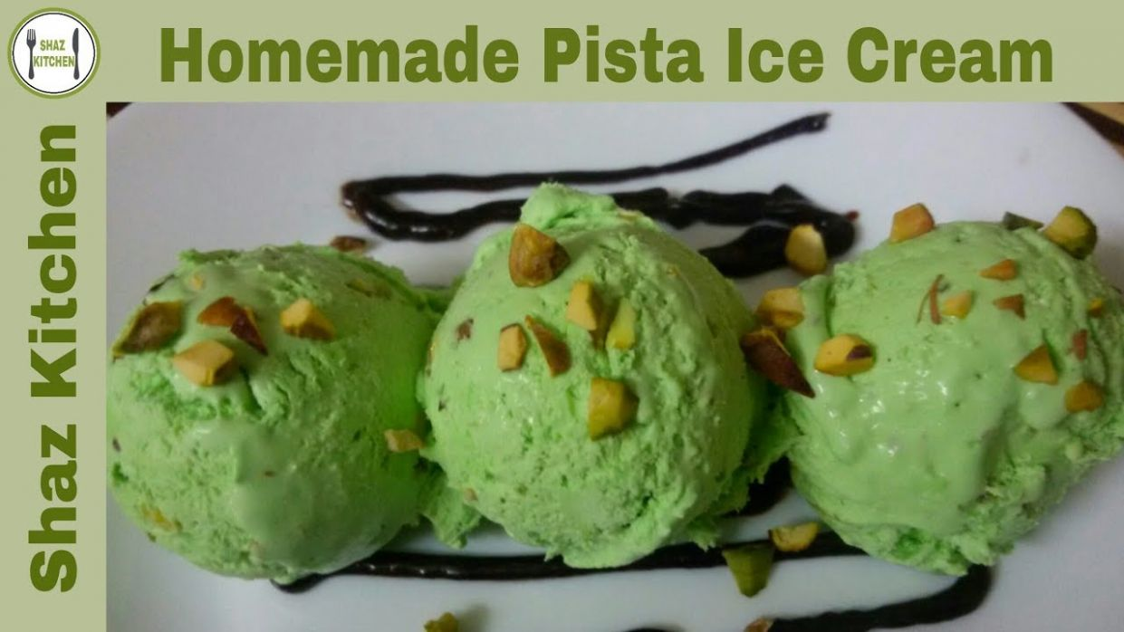 Homemade Pistachios Ice Cream Recipe | Pista Ice Cream Without Machine (In  Urdu) By Shaz Kitchen