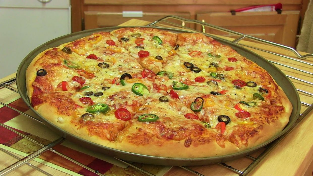 Homemade Pizza Video Recipe⭐️ | Start to Finish Pizza Recipe with Dough,  Sauce and Toppings - Pizza Recipes Youtube Video