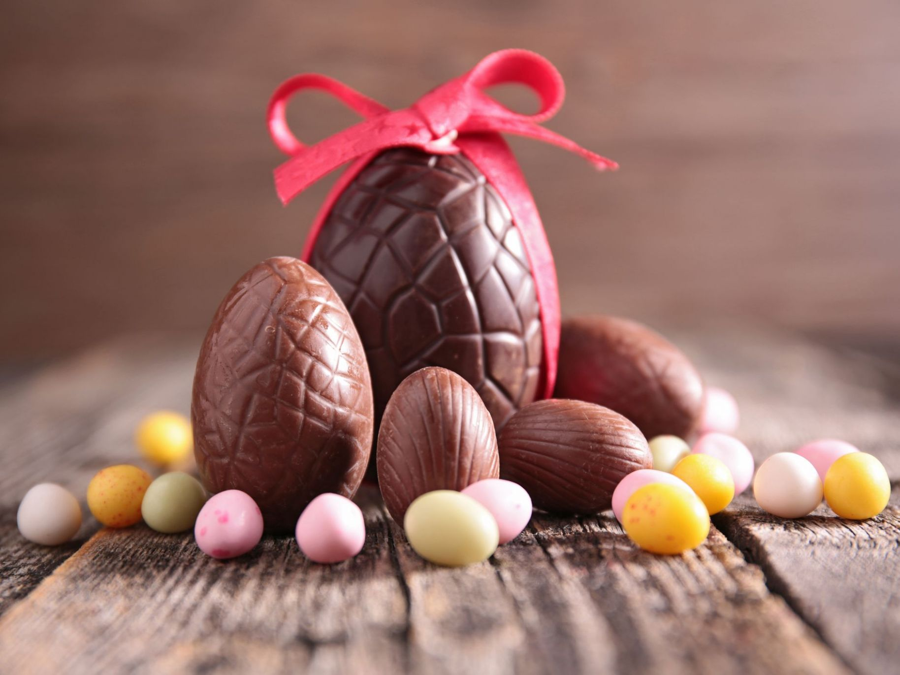 Homemade Solid Chocolate Easter Eggs