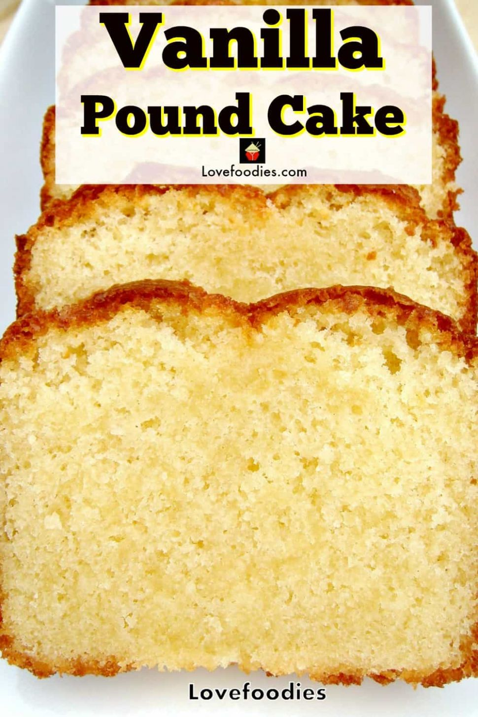 Homemade Vanilla Pound, Loaf Cake, classic, made from scratch easy ..