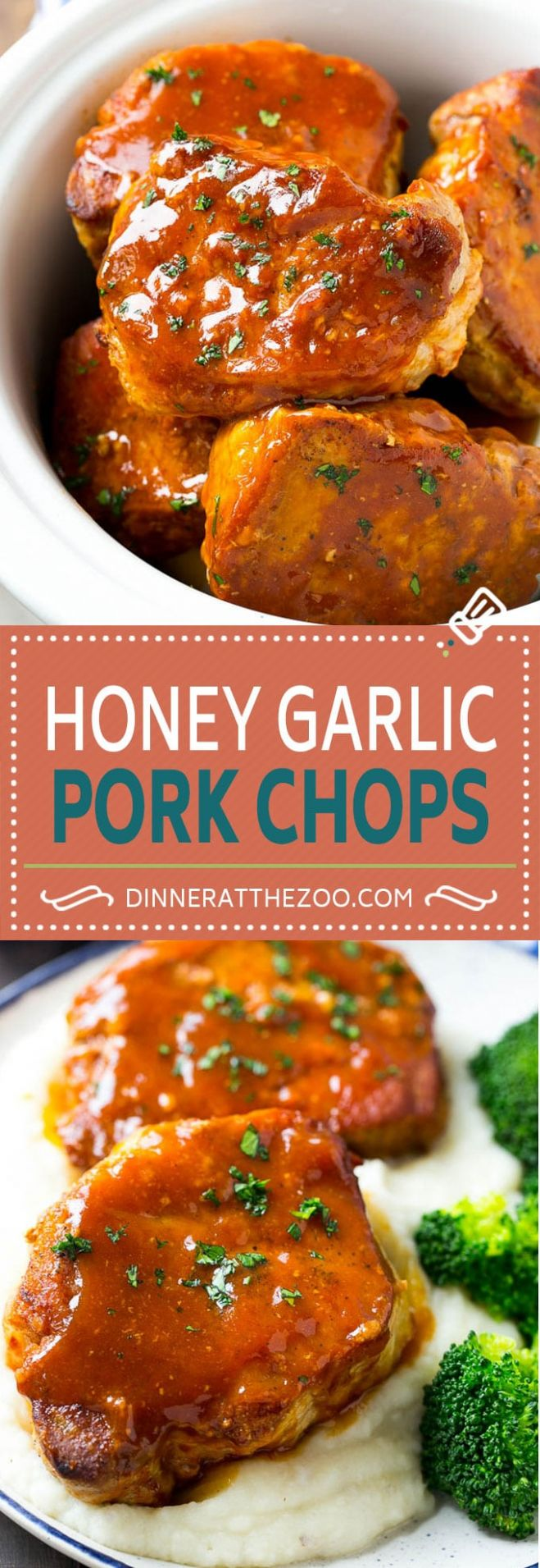 Honey Garlic Pork Chops (Slow Cooker) - Dinner at the Zoo - Recipes Pork Chops Crock Pot