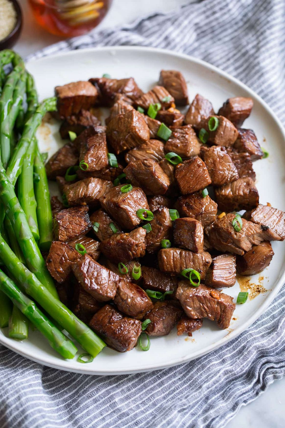 Honey Garlic Steak Bites - Recipes Diced Beef