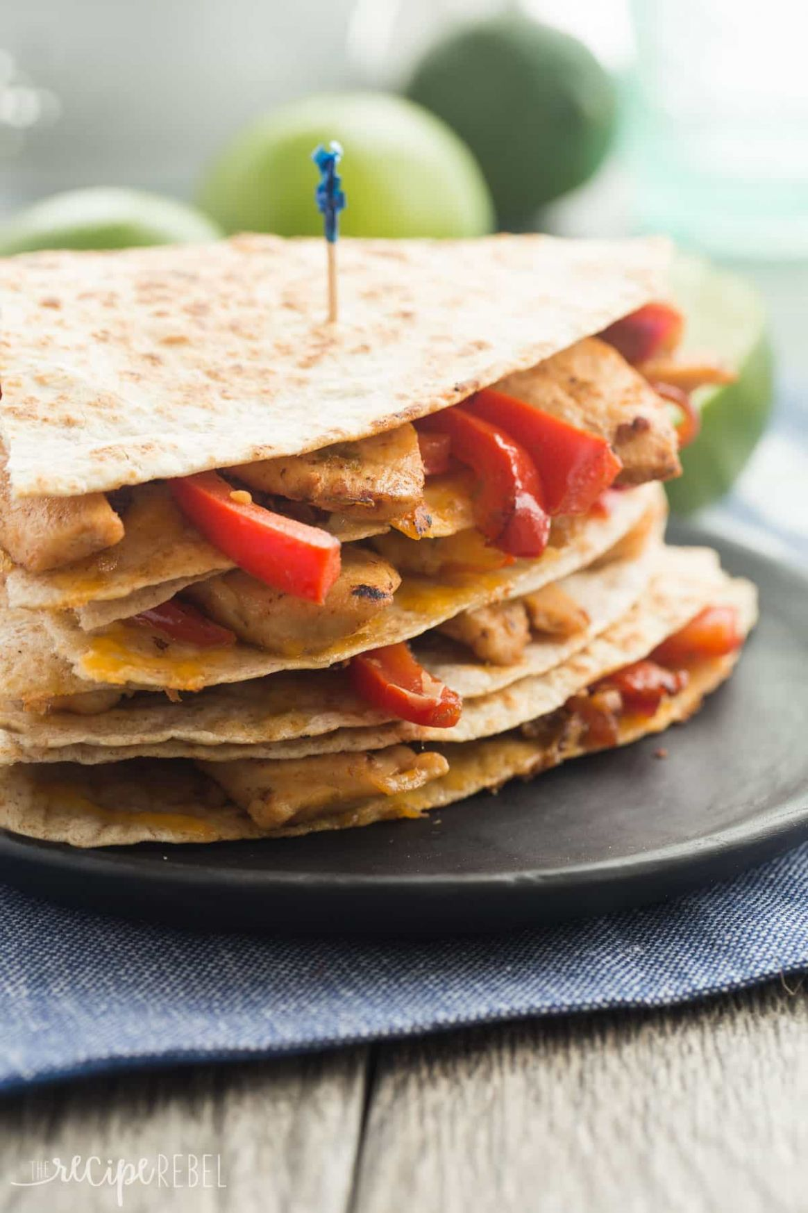 Honey Lime Chicken Quesadillas Recipe: 10 Minute Meal