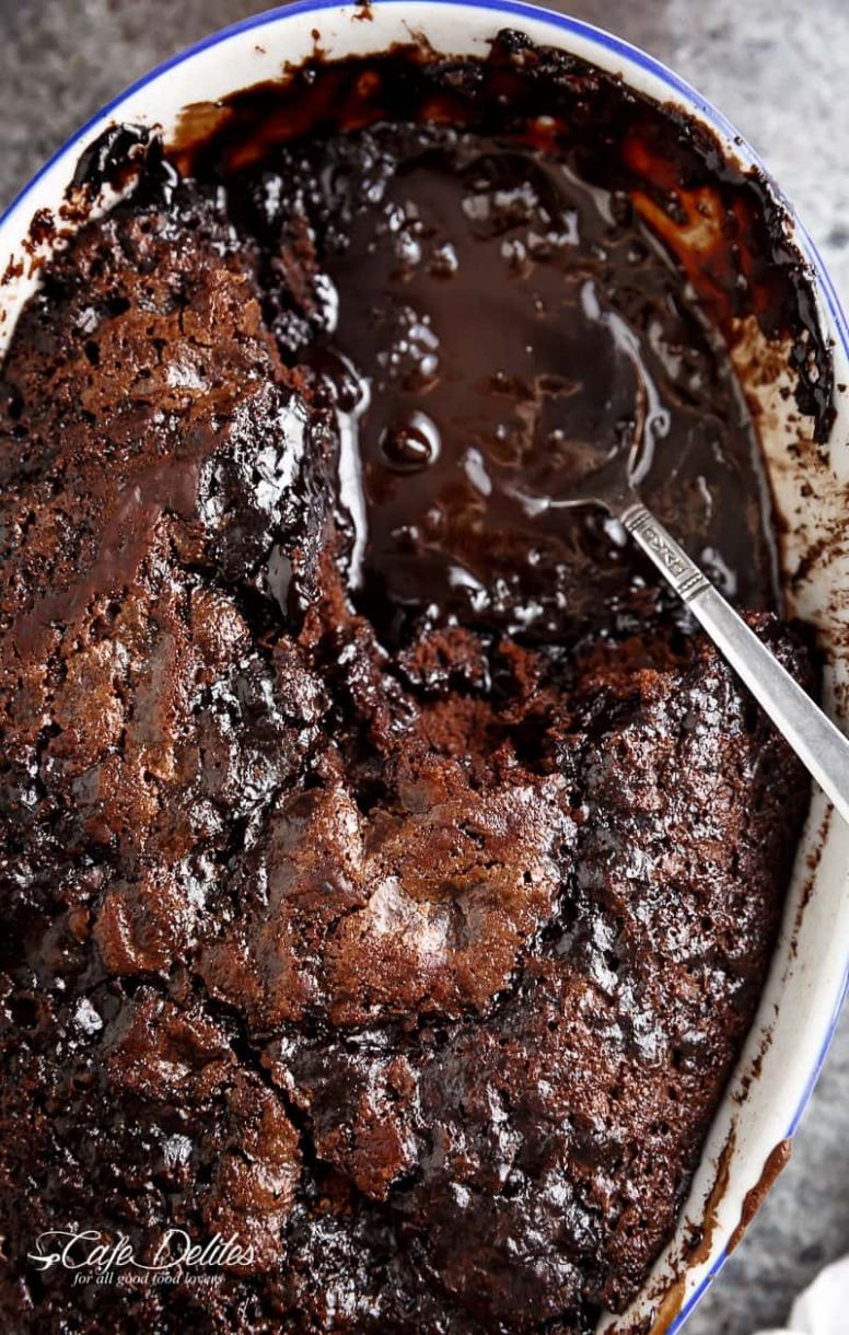 Hot Fudge Chocolate Pudding Cake - Cafe Delites - Chocolate Recipes Quick