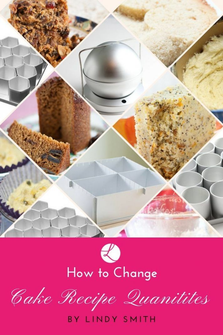 How do I change cake recipe quantities for different bakes?   Cake ...