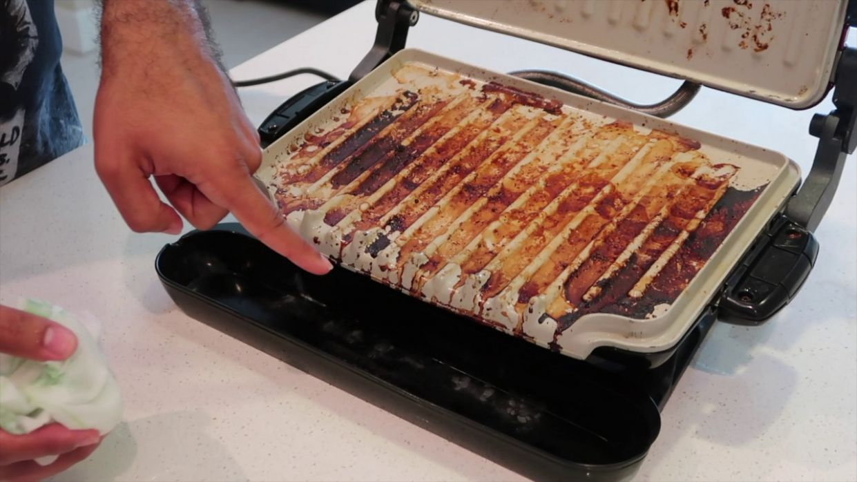 How to...clean your george foreman grill quick and easy life hack