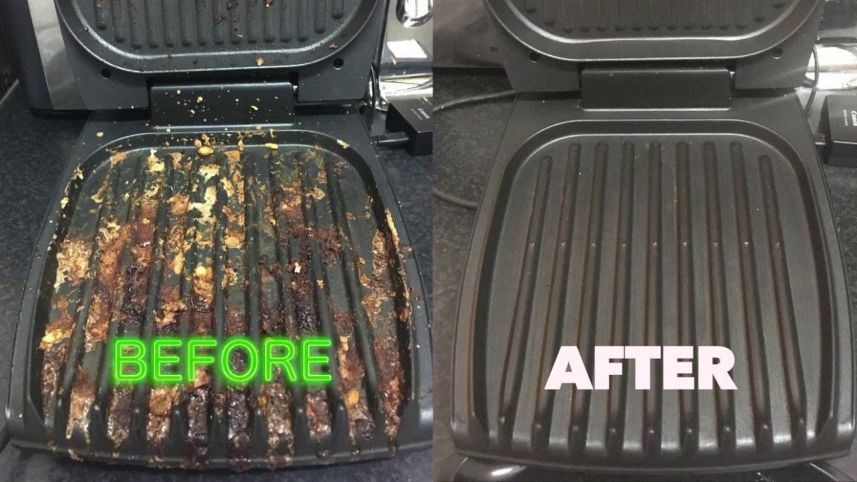 How to clean your George Foreman Grill the easy way - like a BOSS ..
