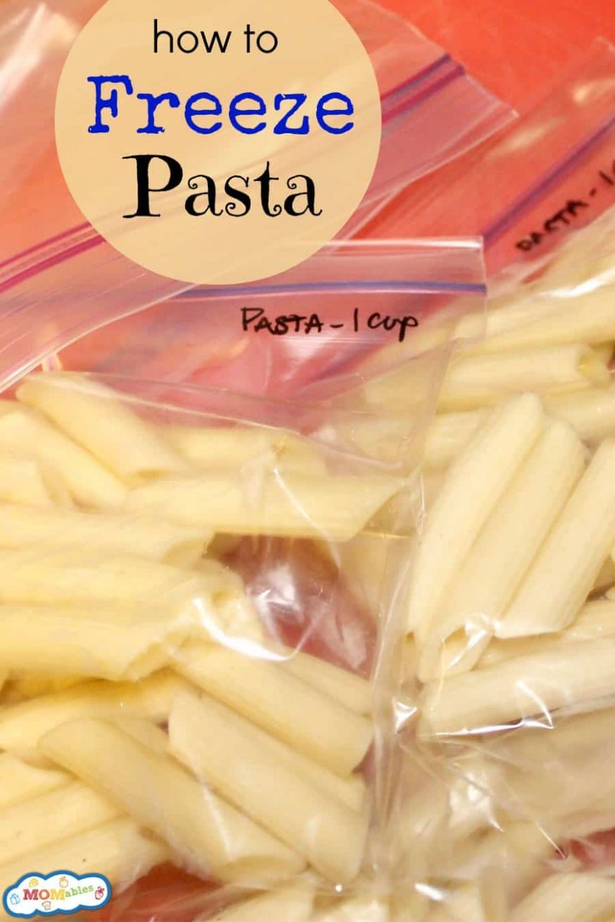 How to Freeze Pasta - Pasta Recipes You Can Freeze